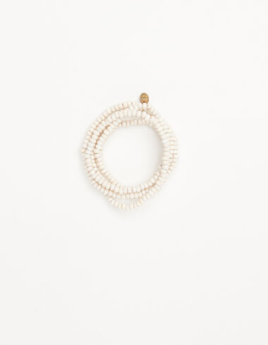 Off-white bead necklace - New in - Nícoli