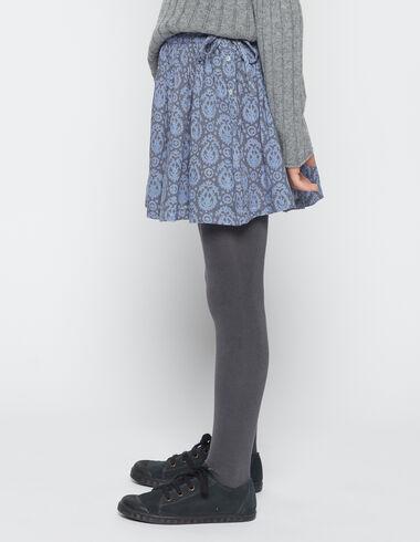 Girl's blue paisley bow skirt - Skirts - Nícoli