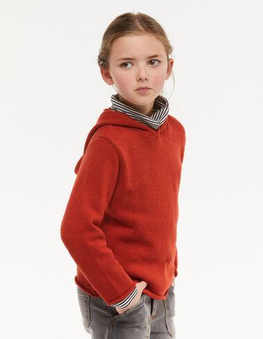 Orange hooded jumper - Jumpers & Sweatshirts - Nícoli
