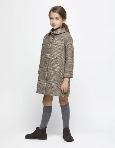 Manteau noisette à carreaux - Vêtements extérieurs - Nícoli