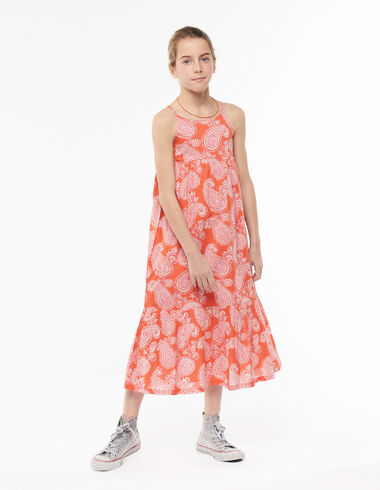 Long red paisley dress - View all > - Nícoli