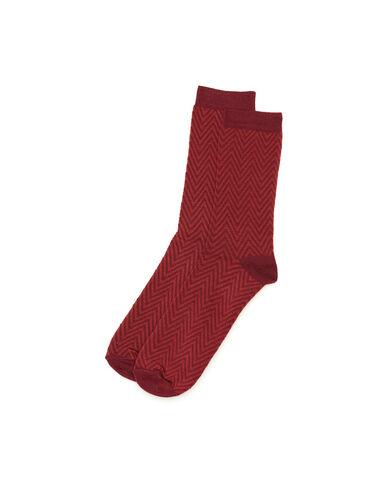 Chaussette chevron fraise - All About Socks - Nícoli
