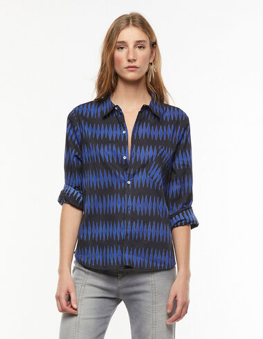 Camisa rombos azul - Camisas y Tops - Nícoli