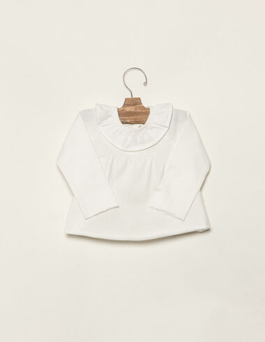 Off-white ruffle top - View all > - Nícoli