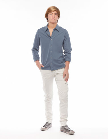 Long ecru chinos with pockets - View all > - Nícoli