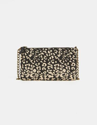 Black animal print jacquard crossbody bag - View all > - Nícoli