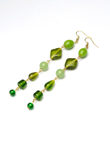 Green Night long earrings - New in - Nícoli