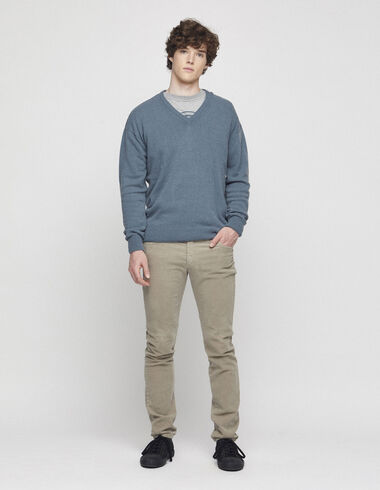 Taupe corduroy 5-pocket trousers - View all > - Nícoli