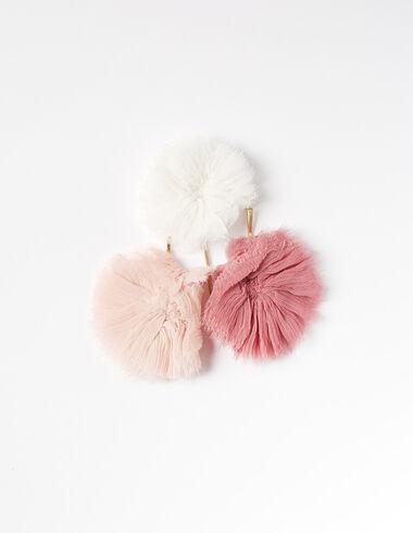 Pack fleurs en mousseline rose - Épingles à cheveux - Nícoli