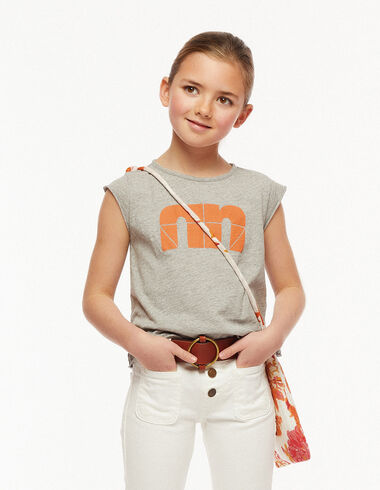 "Camiseta ""N"" gris - The Spring Colour For Kids - Nícoli"