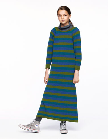 Blue and green striped dress  - Back in the City - Nícoli
