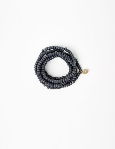Collier perles anthracite  - Colliers - Nícoli