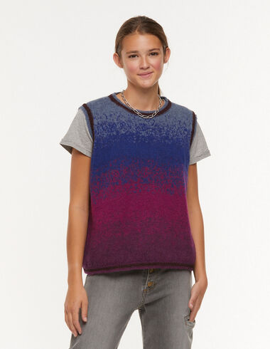 Maroon multi-colour vest - Waistcoats - Nícoli