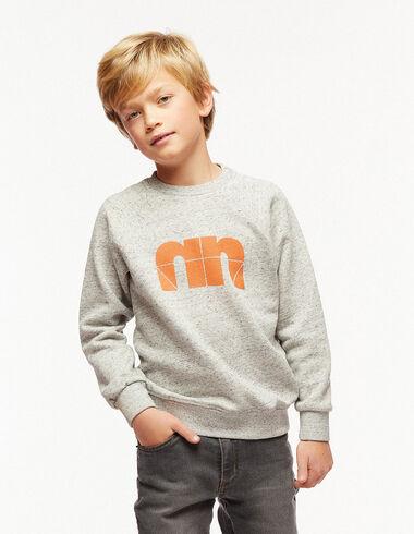 """Grey """"N"""" sweatshirt - Jumpers & Sweatshirts - Nícoli"""