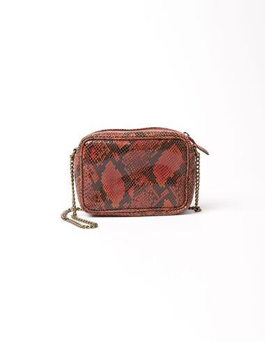 Red snake handbag - Special prices - Nícoli