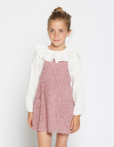 Girl's strawberry flower pinafore dress - View all > - Nícoli