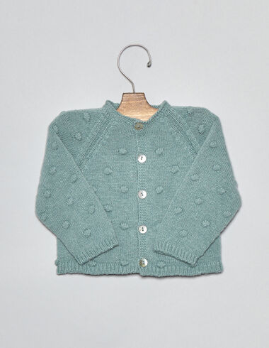 Light green bobble baby cardigan - Cardigans - Nícoli