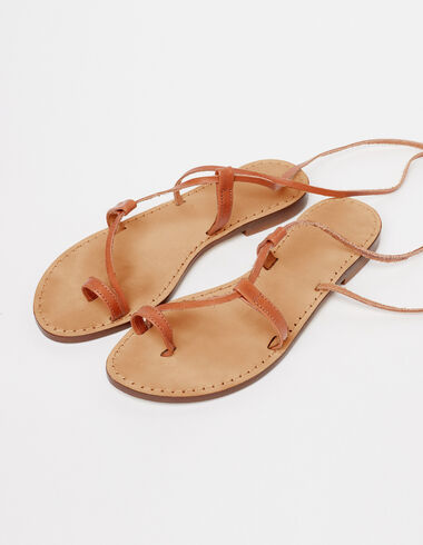 Brown sandals with laces - Lost in Tarifa - Nícoli