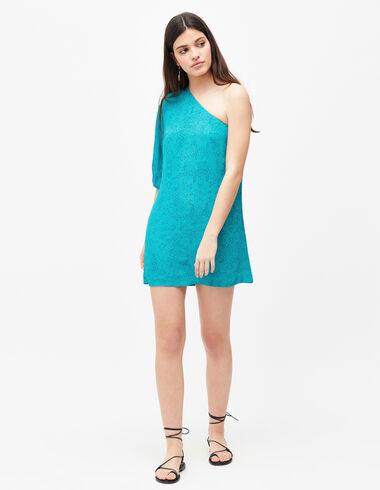 Women's blue asymmetric dress - View all > - Nícoli