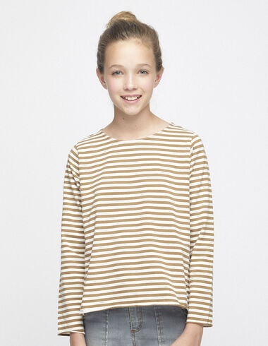 Off-white nut striped top - View all > - Nícoli