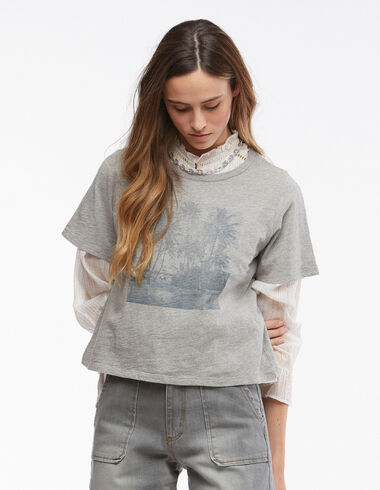 Camiseta palmeras gris - Ver todo > - Nícoli