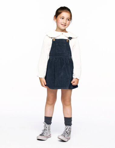 Anthracite corduroy pinafore dress - View all > - Nícoli