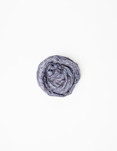 Blue paisley mini scarf - View all > - Nícoli