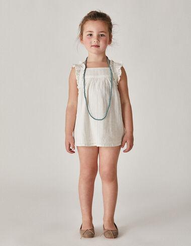Robe rayée blanche - Fille - Nícoli