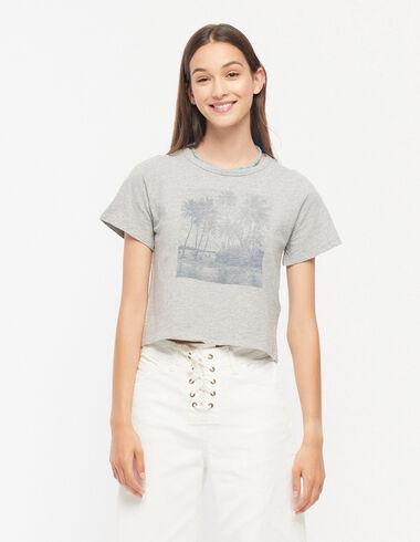 Grey palm trees t-shirt - Palm Trees - Nícoli