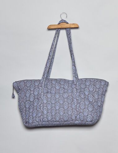 Blue print bag with handles - Accesories - Nícoli
