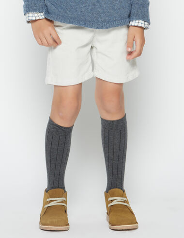 Boy's natural corduroy chino shorts - View all > - Nícoli