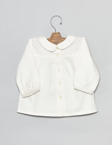 Moon collar baby blouse with buttons - Shirts - Nícoli