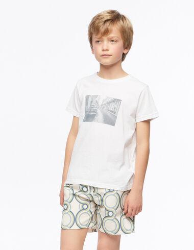 Blue geometric print swimsuit - Geometric Print - Nícoli