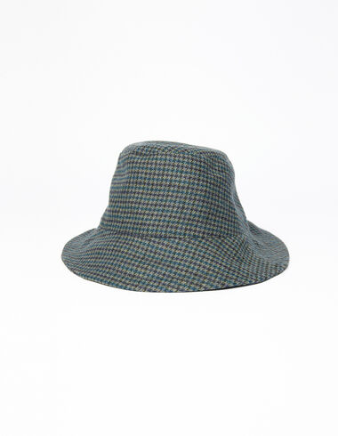 Blue tweed girl's hat - All About Socks - Nícoli