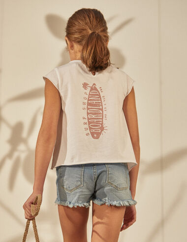 """Tee-shirt solidaire """"surf"""" fille - Tee shirts - Nícoli"""
