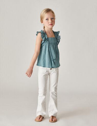 Pantalon évasé blanc fille - Voir tout > - Nícoli