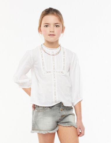Camisa cuello perkins manga larga blanca - Camisas - Nícoli