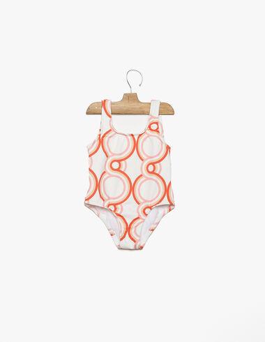 Traje baño print geométrico fresa - Trajes de baño - Nícoli