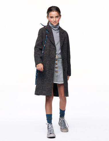 Mottled brown lapel coat - View all > - Nícoli