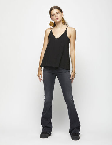Anthracite flared jeans - Trousers - Nícoli