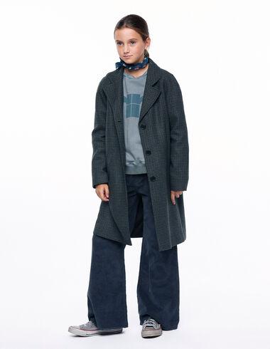 Manteau à revers tweed bleu - Voir tout > - Nícoli