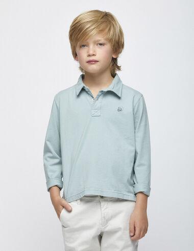 Light green long sleeved polo shirt - Polos - Nícoli
