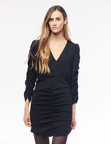 Sparkly black draped dress - View all > - Nícoli
