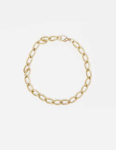 Wide chaine necklace in gold tone - View all > - Nícoli