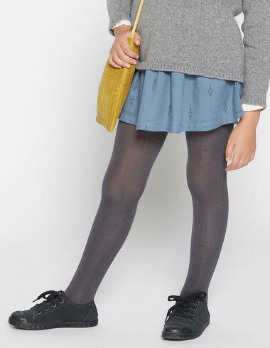 Jupe bleue fermeture lacet pour petites filles - Jupes - Nícoli