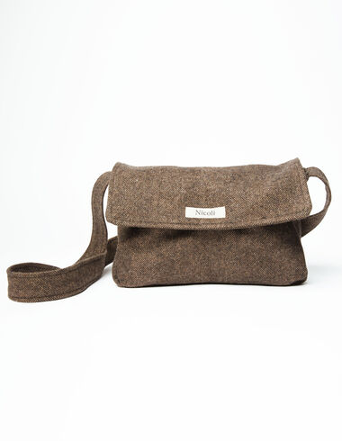 Brown herringbone bag - View all > - Nícoli