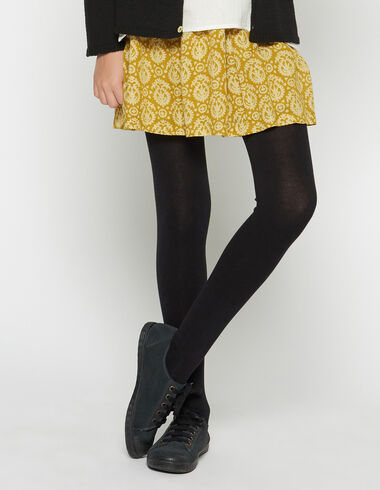 Girl's mustard paisley bow skirt - Skirts - Nícoli