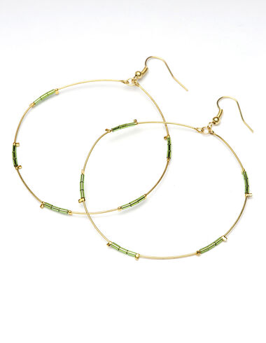 Pendientes Green Circle - New in - Nícoli