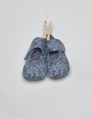 Chaussures bleues fleurs pour bébés - Voir tout > - Nícoli