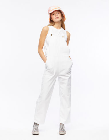 White dungarees with pocket and straps - Gift Ideas By Isabelle Dubrulle - Nícoli